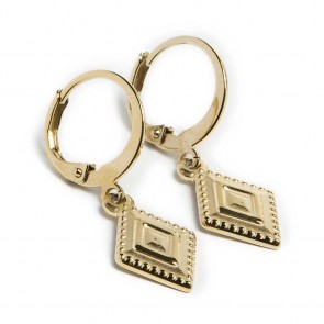 Silis Earring Square Gold Out