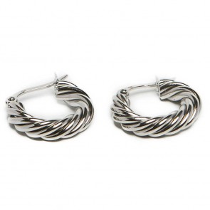 Silis The Earrings Twisted Hoops So Silver