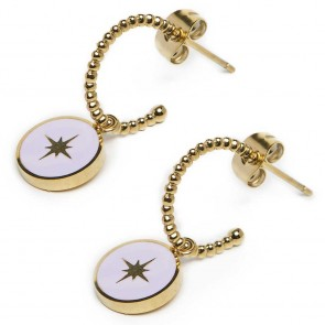 Silis The Earring Star Color Gold Out & Light Grey