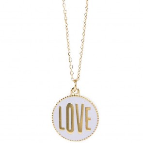 Silis The Necklace Love Color Gold Out & Light Grey