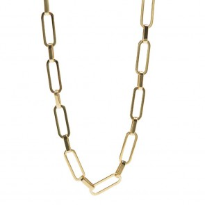 Silis The Necklace Square Gold Out