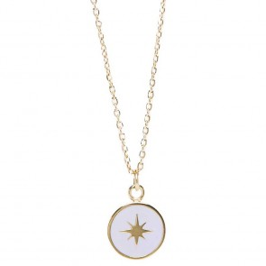 Silis The Necklace Star Color Gold Out & Light Grey