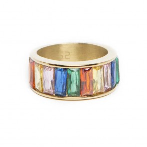 Silis The Ring Baguette Rainbow