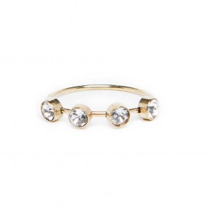 Silis The Ring Small Strass White Strass