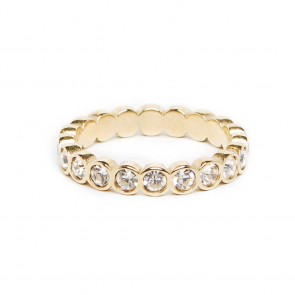 Silis The Ring Strass Gold & White Strass