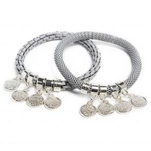 Silis Morning Dawn Grey & Shake Ur Coins Bracelet